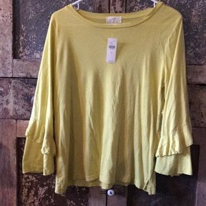 Anthropologie Tops - Anthropologie shirt with ruffle sleeves